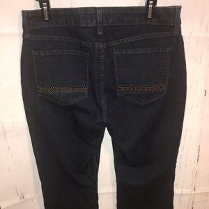 NYDJ 12P Dark Blue Jeans With Designed Pockets